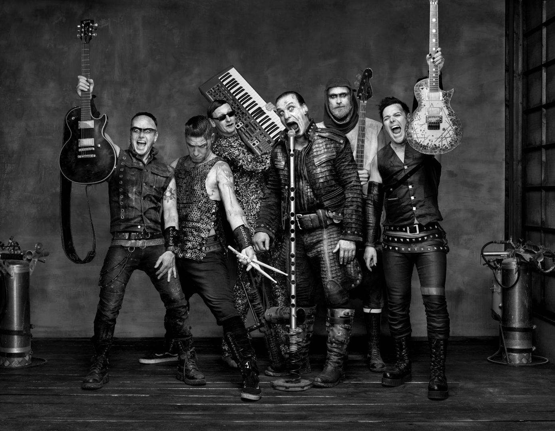 Die Rockgruppe Rammstein