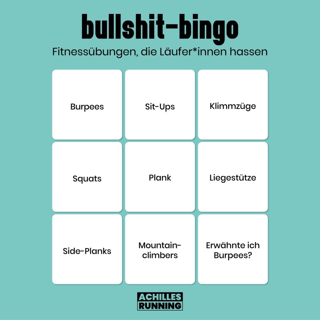 Bullshit-Bingo: Fitnessübungen, die Läufer*innen hassen