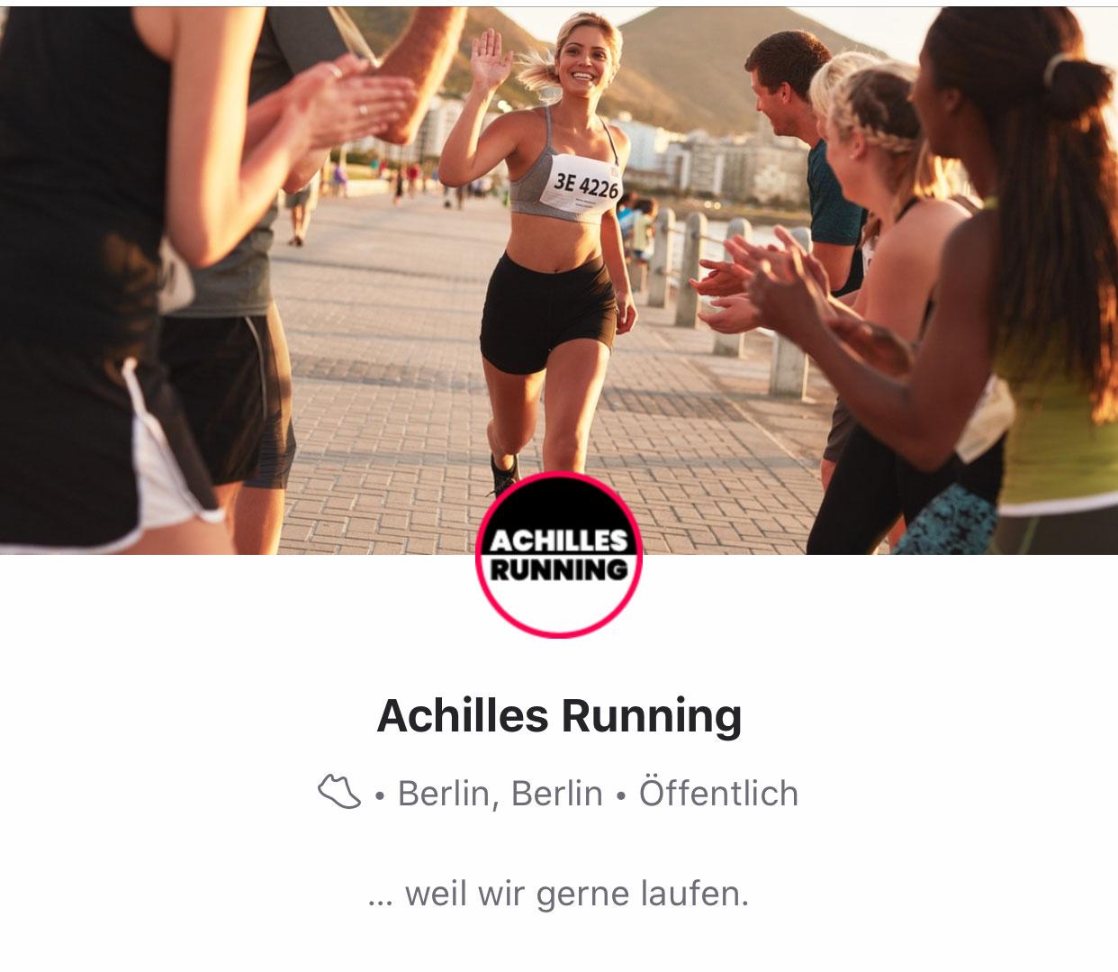 Achilles Running hat bei Strava einen eigenen Club