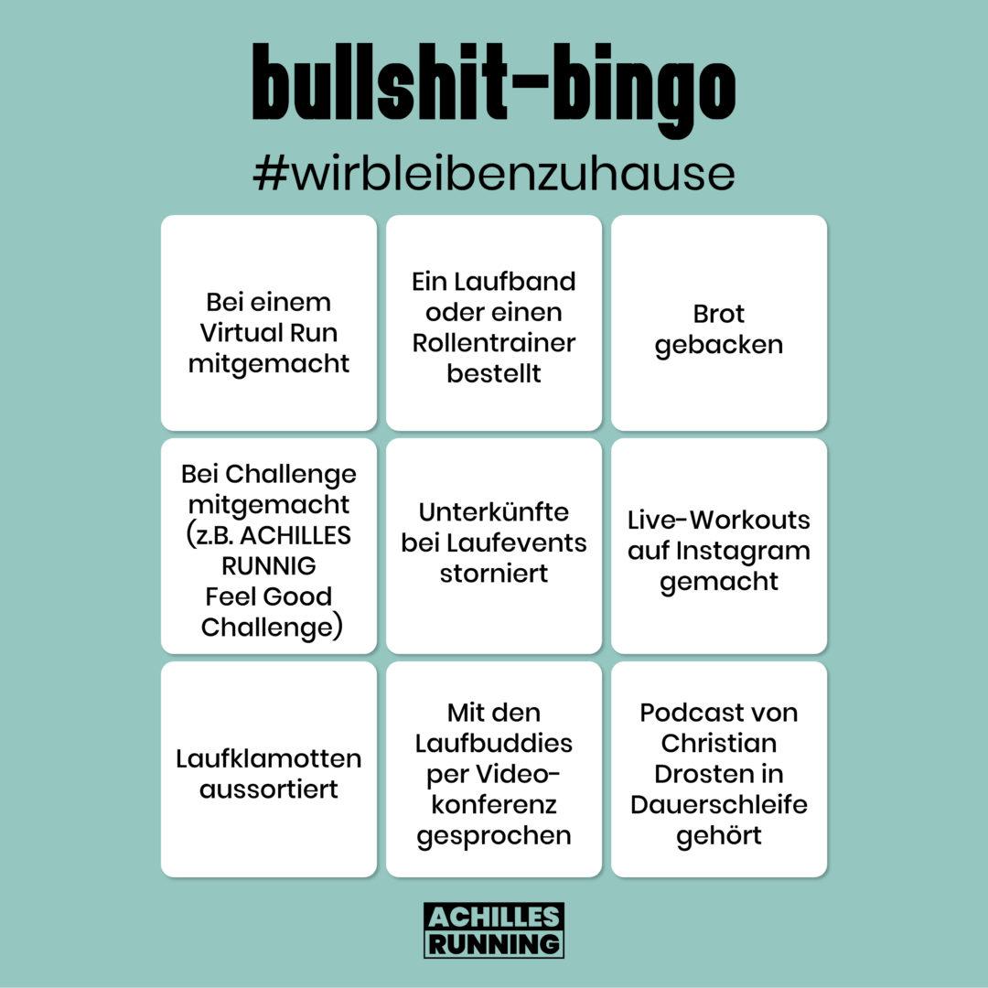 Bullshit-Bingo: #wirbleibenzuhause