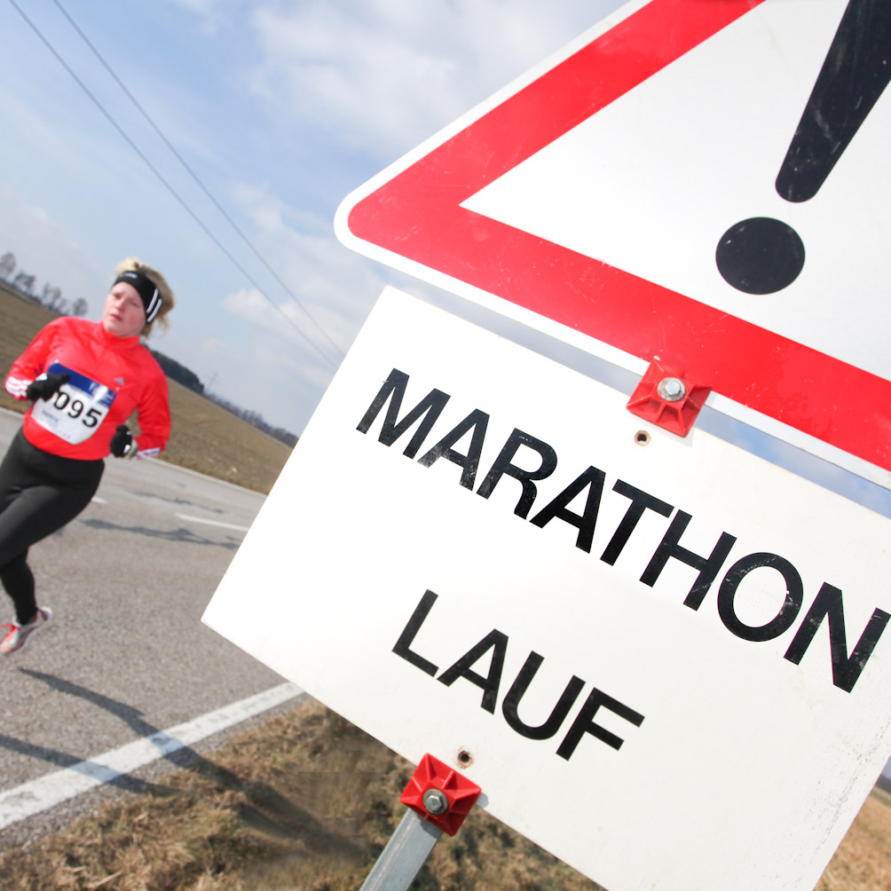 Motivationssprüche an der Laufstrecke